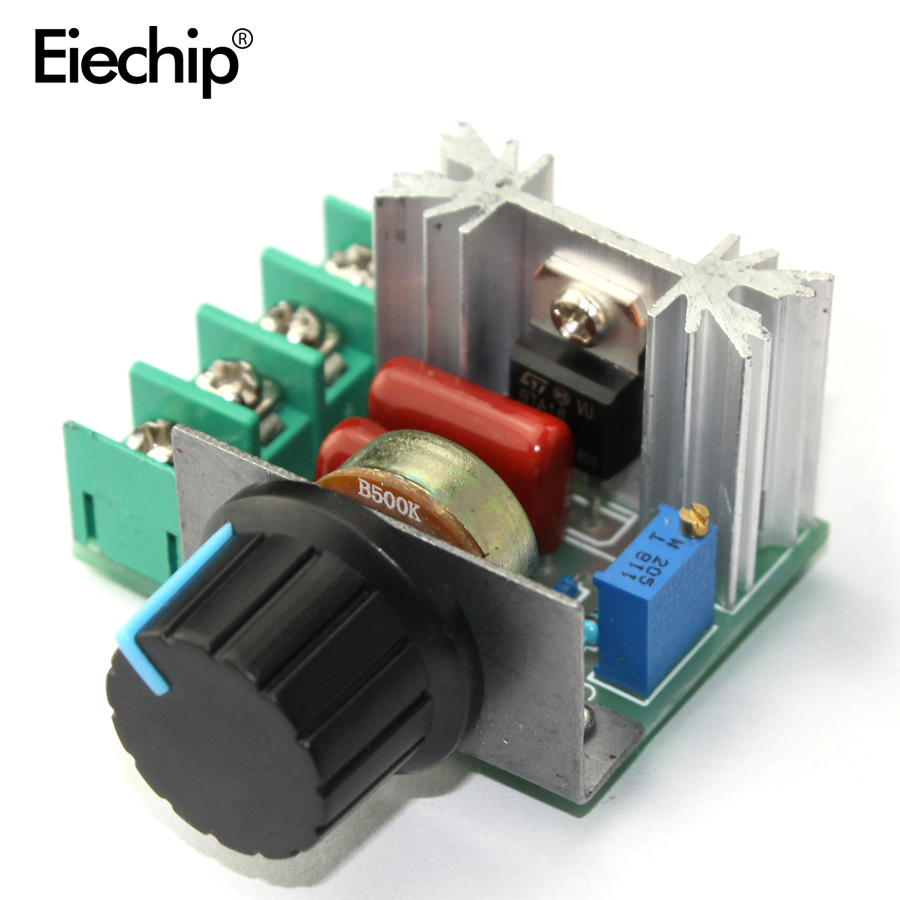 AC 220V 2000W SCR Voltage Regulator Dimmer Motor Speed Controller Thermostat Hight Power Electronic Voltage Regulator Module