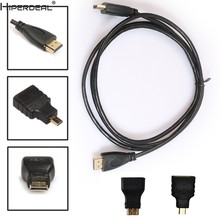 Hiperdeal 0.5M 3in1 Hdmi Naar Hdmi/Mini/Micro Hdmi Adapter Kabel Kit Hd Voor Tablet Pc Tv oct27 Hw(China)