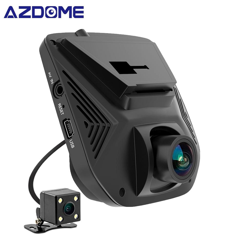 AZDOME A305 עדשה כפולה FHD 1080P רכב DVR Novatek 96658 מסך LCD Sony IMX323 רכב מקליט וידאו דאש קאם עם מצלמה אחורית