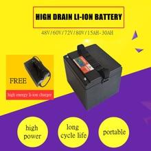 Высокая Мощность 48 В 15AH/20AH/30AH литий-ионный Перезаряжаемые батареи для электрических велосипедов и 48 В Мощность банк (бесплатно зарядное устройство)