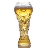 Креативные 2018 футбольные кружки Бар стекло 450 Винные бокалы виски чашка для пива Кубок сока чашка высокое боросиликатное стекло