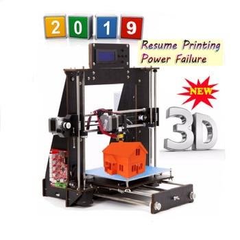 цена на 2019 Upgraded Full The Committee Against Terrorism 3D Printer Reprap Prusa MK8 i3 DIY Kit MK2A heizung bett 3D Drucker ABS / PLA