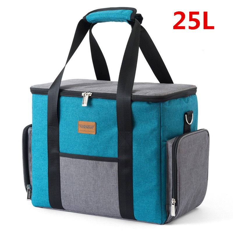 купить 25L Extra Large Insulated Cooler Bag Thermal Ice Pack Men's Bag Refrigerator For Food Weekend Picnic Beer Storage Container New онлайн