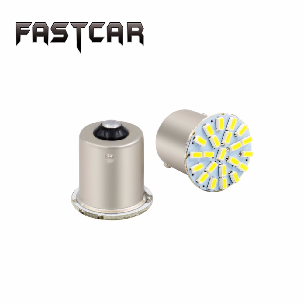 Fastcar 10x 1156 BA15S P21W S25 22 SMD Led 3014 Chips 6000K White Daytime Running Lights Reverse Lamp ...