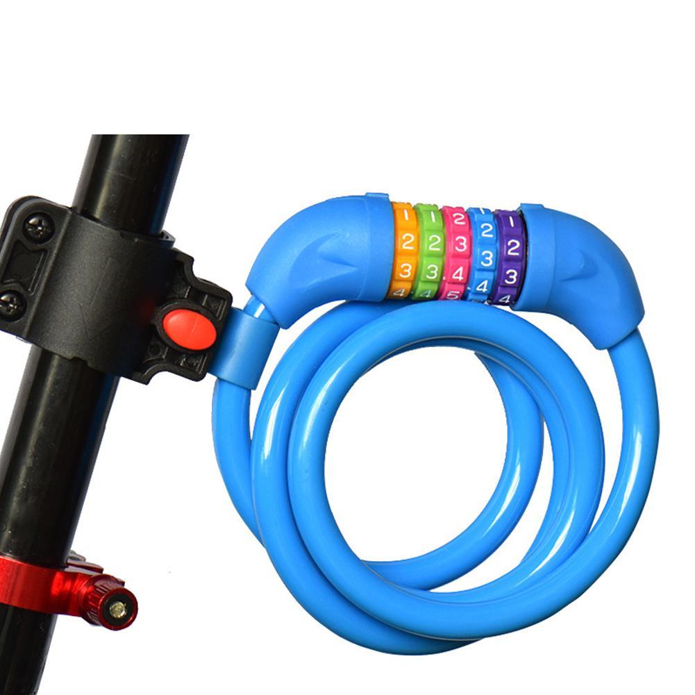Хоббилан велосипедный замок 5 цифровой код комбинация велосипедный замок безопасности 1200 мм X 12 мм стальной кабель Спиральный Велосипедный Замок