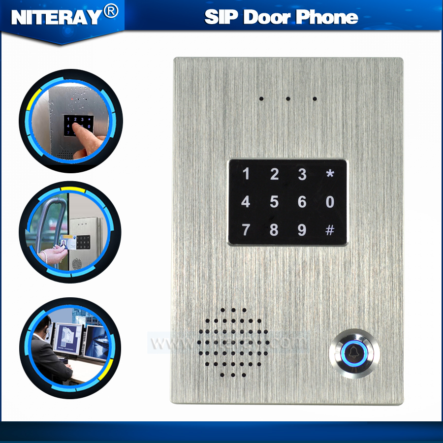 Tcp Ip Door Access Control Sip Door Bell Voip Door Phone Audio