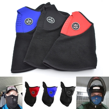 Universal Motorcycle Bike Outdoors motion Face Mask Cover Fleece Unisex Neck Guard For HONDA PCX 125/150 PCX125 PCX150 image