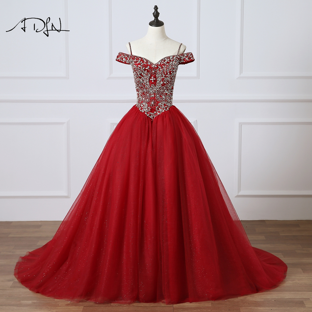 ADLN Heavily Beaded Burgundy Quinceanera Dresses Ball Gown High Quality Debutante Gown For 15 Years Dress Sweet 16 Dress