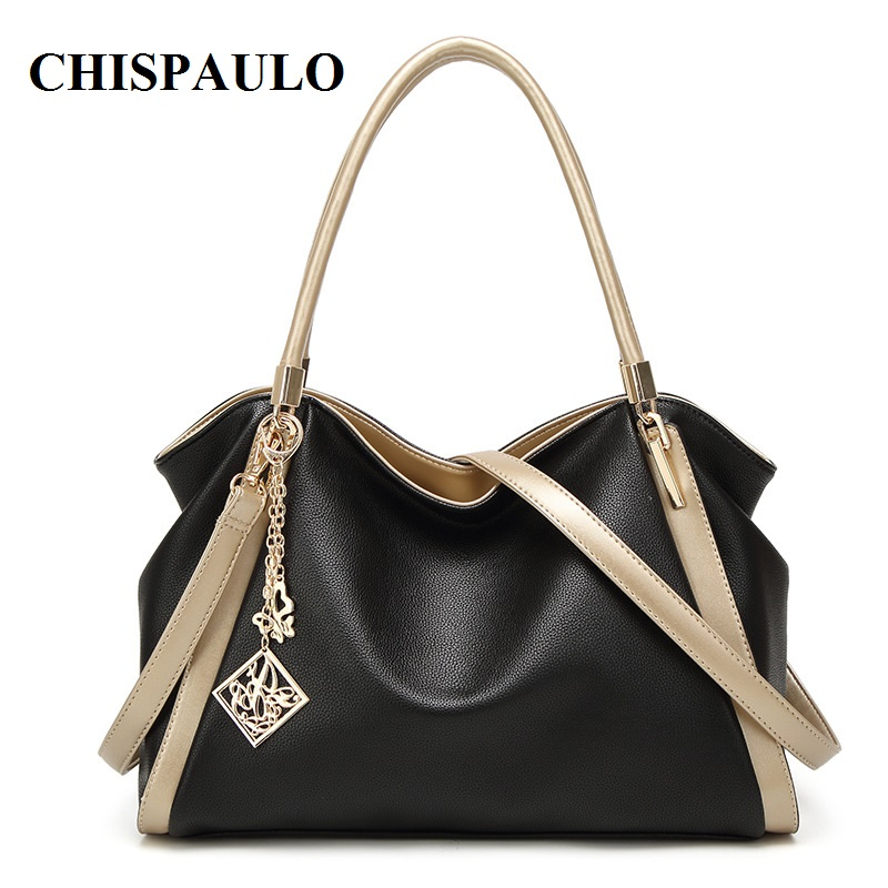 CHISPAULO Brand Designer Handbags High Quality Genuine Leather Bags For Women Messenger Bags Fashion Women's Shoulder Bags T580