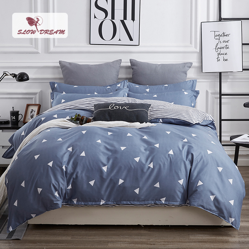 SlowDream Bedding Set Of Double Duvet Bed Sheet Linens Bedspread Bed Sheet 150/200 Bed Linen Euro Nordic Home Bedding Cover Set