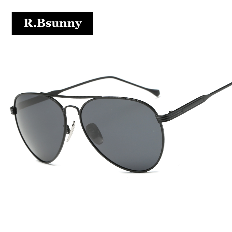 R Bsunny font b Fashion b font brand high definition pilot sunglasses Classic font b polarized