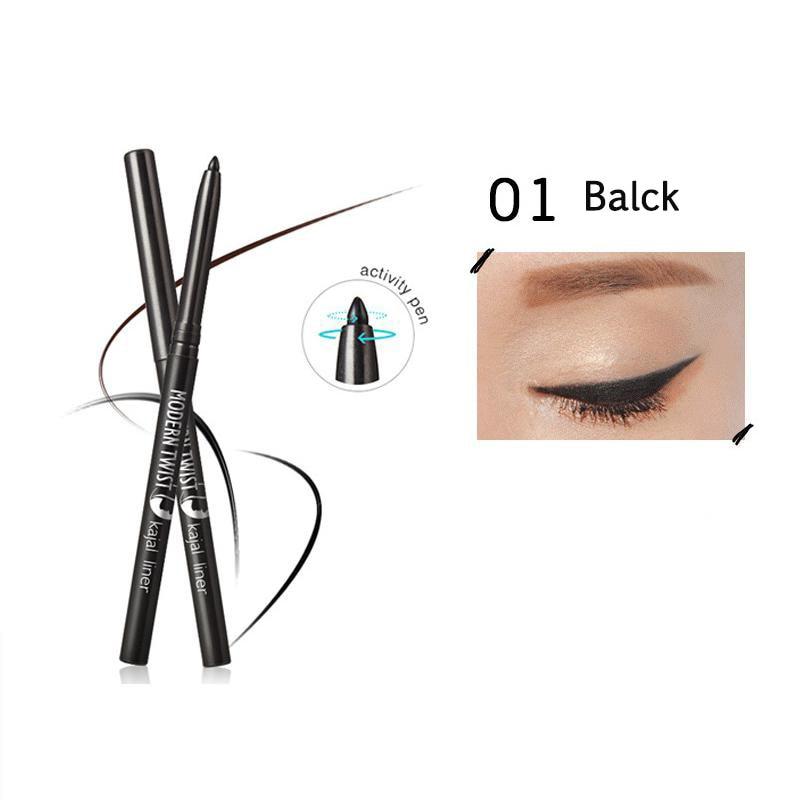Beauty Essentials M.n Brand Waterproof Black Brown Crystal Kajal Eye Pencil Super Gliding Eyeliner Longlasting Eyeliner Pen Makeup Tool Buy One Give One