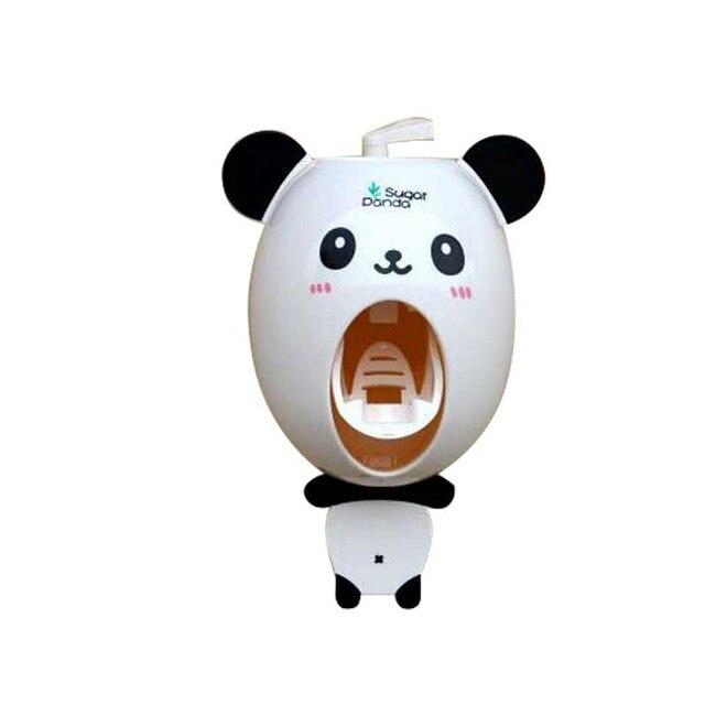 Useful Bathroom Accessories Sucker Cartoon Automatic Toothpaste Dispenser  Toothbrush Bathroom Tools Panda