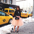 Icon Winter Style A-line Tulle Skirts Five Layers US Tulle One Layer Lining Women Skirts Adult Tutu Bridesmaids Saias Femininas
