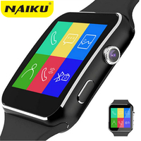 NAIKU Bluetooth Smart Watch NK6 Sport Passometer Smartwatch With Camera Support SIM Card Whatsapp Facebook For