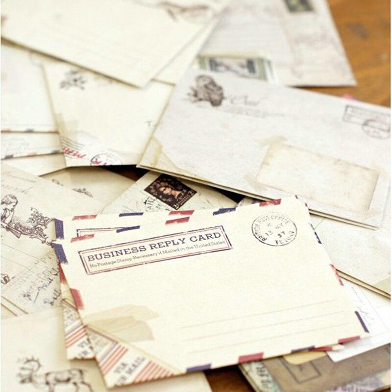 60pcs Vintage Mini Papier Umschläge Einladung Umschlag Karte Briefumschläge
