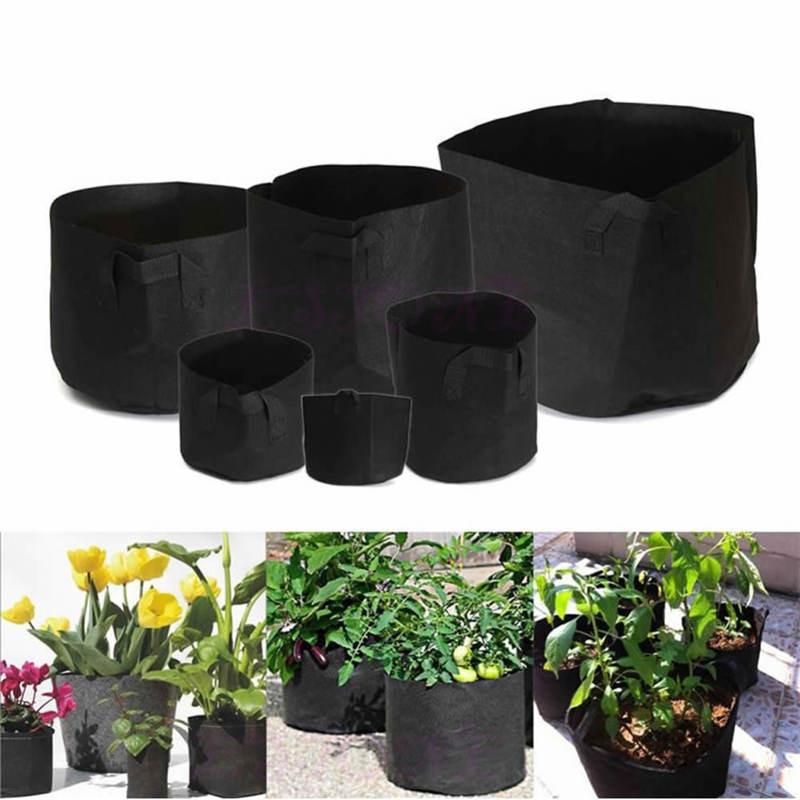 Outdoor Indoor Garden Planting Bags Cultivation Garden Pots Planters Vegetable Planting Bags Grow Bags Farm Home Garden Supplies