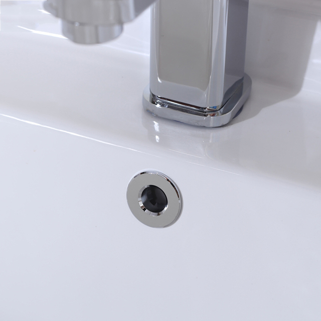 1 10pcs Round Bathroom Sink Overflow Cover Plastic Chrome Basin Over Flow Circular Kitchen