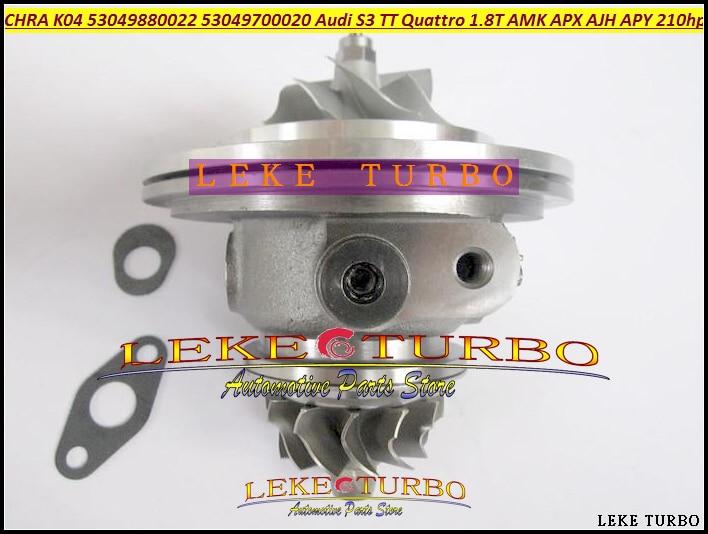 Turbo Cartridge CHRA K04 22 53049880022 53049700022 06A145704P 06A145704PX 06A145704PV For Audi S3 TT 1.8T Leon AJH AMK APX 1.8L turbo cartridge chra k04 022 20 53049880022 53049880020 06a145704p 06a145704m for audi s3 tt quattro 99 02 amk apx ajh 1 8t 1 8l