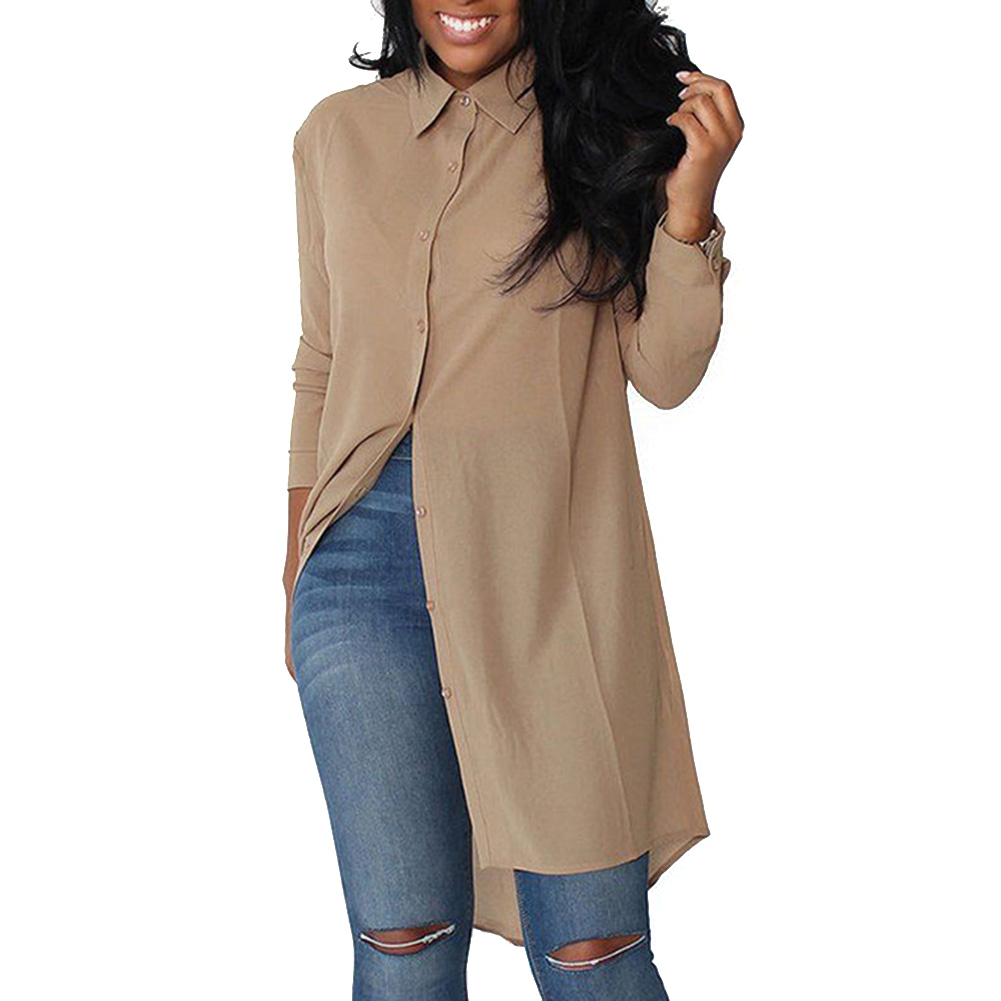 Plus Size Womens Blouses Fashion Autumn 2018 Black Long -2191