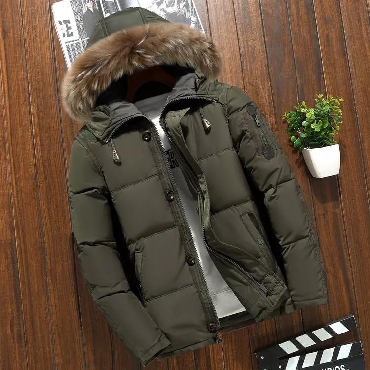 90% duvet de canard blanc hommes vestes haute qualité chaud mode affaires hiver vêtements décontracté manteau mâle Parka pardessus