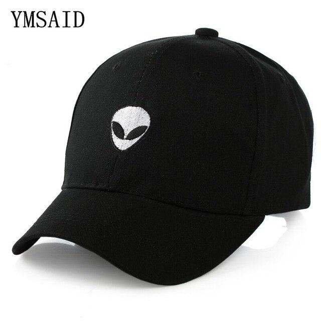 8bf838e17aa 2019 Aliens Saucer Man E.T UFO Fans Embroidery Black Snapback Summer  Baseball Cap Gorras Hip Hop