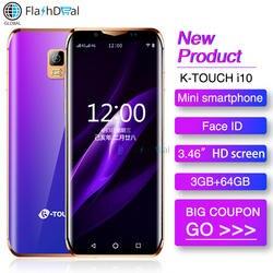 Мини смартфон K-Touch i10 четырехъядерный 3 Гб 64 Гб 3,46 дюймов 6D изогнутый стеклянный экран Android 8,1 Face ID wifi самый маленький смартфон 4G