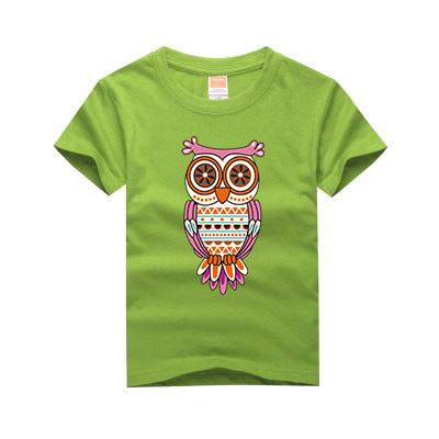 100% Algodão Novo Da Família Da coruja camisa impressão de t meninos roupas meninas camisas de manga curta t roupas crianças casual tops t Para 2-13
