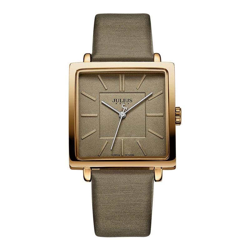 Julius márka kvarc órák női óra arany négyzet bőr karkötő - Női órák