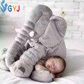 Elefante almohada del bebé grande bebé suave animal elefante stlye throw pillow cojín para niños azul rosa amarillo bebé cojín antivuelco