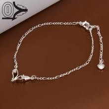 Lose Money!!Wholesale Silver Plated Anklets,Fashion Silver Foot Jewelry,Inlaid Stone Fox Eyes Anklets Bracelet For Girl