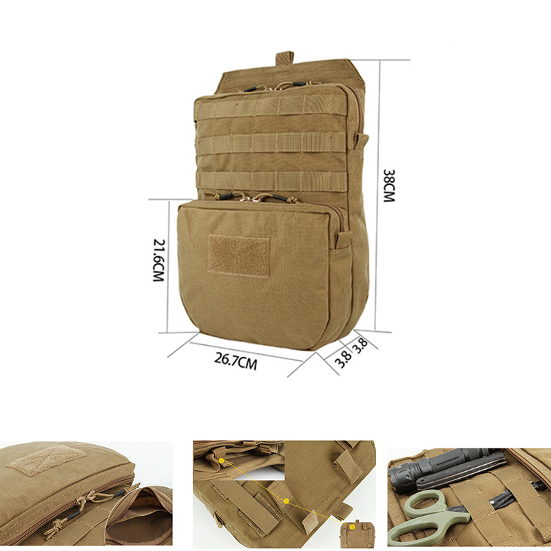 цена Molle 3L Tactical Pouch 1000D Hydration Backpack Nylon Water Pack