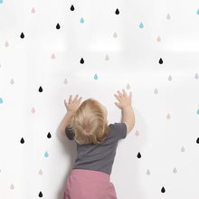 Small raindrop Wall Sticker For Kids Room Baby Girl Room Wall Decor Baby Boy Room Home Decor Children Bedroom Wall Stickers(China)