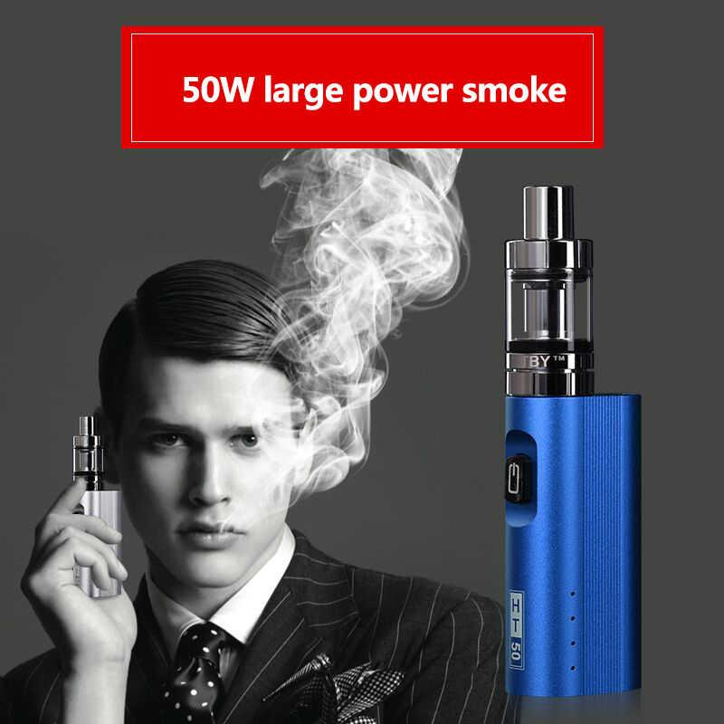 オリジナルht 50電子タバコ改造キット2200 mah 50ワットeタバコボックスmod 510スレッド2.0ミリリットルタンク電子水ギセルvaperペン