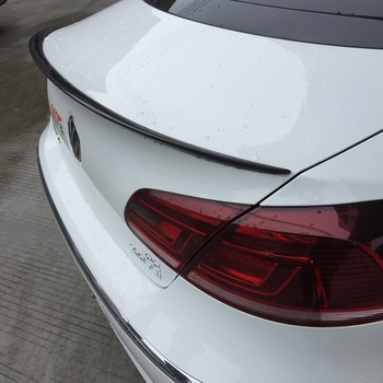 2015 Mustang Spoiler | Carbon Fiber Car Rear Trunk Spoiler Boot Lip Wing For Volkswagen VW Passat CC Sedan 4-Door 2009-2012 V Style