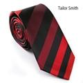 Tailor Smith New acessórios masculinos de luxo 100% microfibra magro listrado gravata clássico vestido de casamento Formal do negócio Slim laço