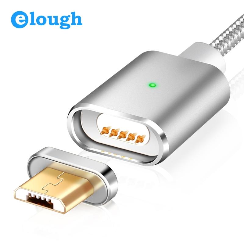Elough E03 Micro USB кабель Магнитная Зарядное устройство для Xiaomi Huawei Android мобильного телефона быстрой зарядки магнит MicroUSB кабель для передачи данны...