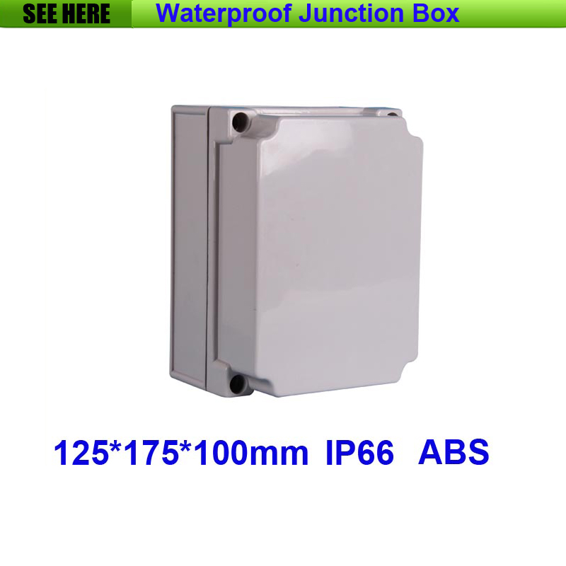 Free Shipping 1 Piece Small Type IP66 ABS Grey Waterproof plastic enclosure for electronics products 125*175*100mm 1 piece free shipping abs plastic