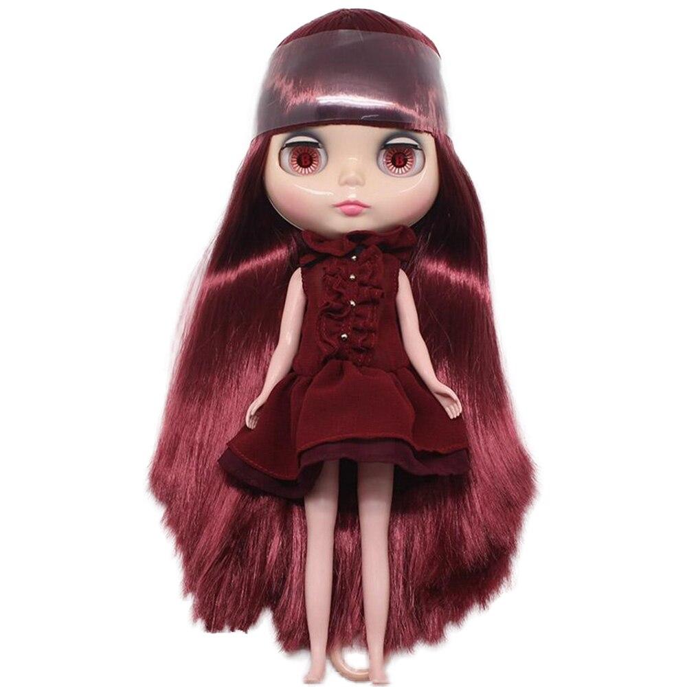 ثروة أيام blyth عارية دمية رقم QY12532 النبيذ الأحمر الشعر مع الانفجارات مصنع blyth اللحم لون البشرة-في الدمى من الألعاب والهوايات على  مجموعة 1