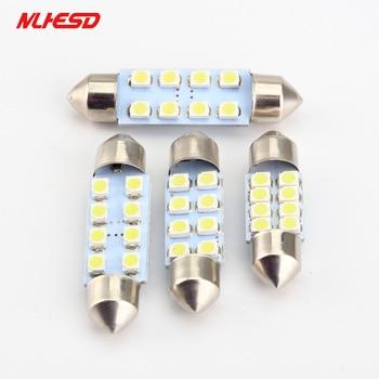 100pcs/lot Car Auto Interior fetoon 8LED 31mm/36mm/39mm/42mm led 3528/1210 SMD c5w 8smd Festoon led light Bulb