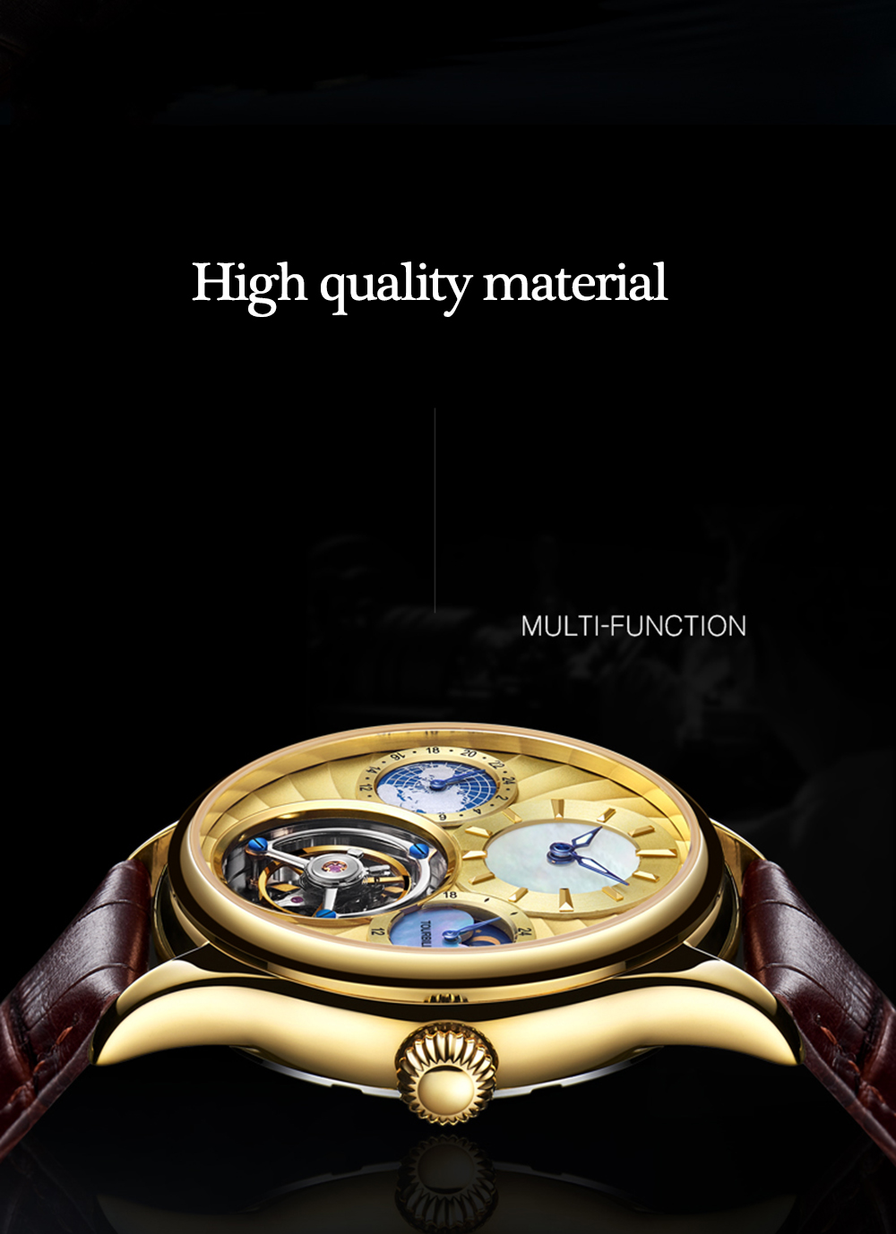 GUANQIN 2019 Real Tourbillon Mechanical Hand Wind Mens Watches Top Brand Luxury Skeleton Clock men Sapphire Relogio Masculino 9