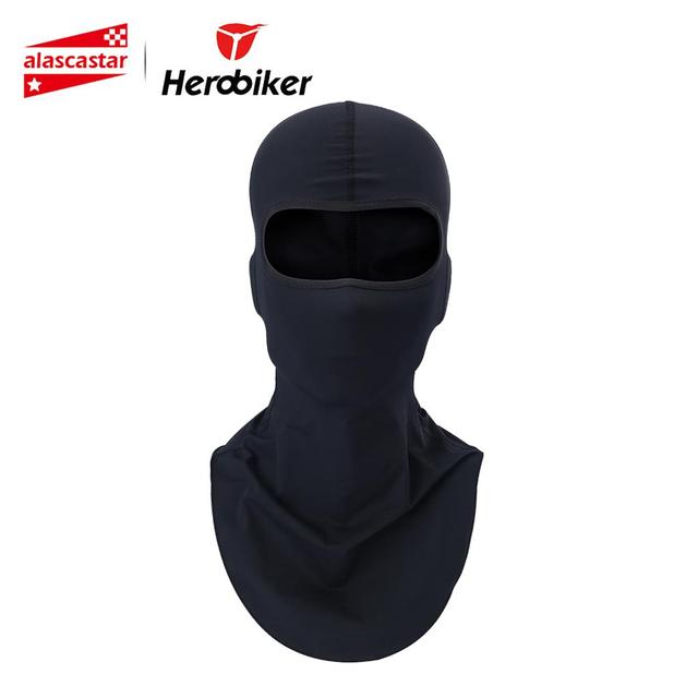 HEROBIKER Motorcycle Mask Balaclava Face Shield Biker Motorbike Warmer Sun-protection Headwear Full Face Mask Motorcycle Maske