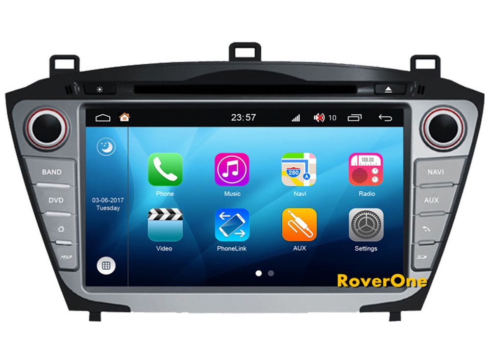 Pour Hyundai IX35 Tucson 2014 2015 Android 8.0 Autoradio Bluetooth Voiture DVD Radio Stéréo GPS Navigation Sat Navi Lecteur Multimédia