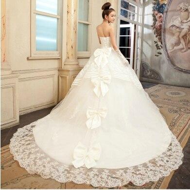 2017 Real Natural Mermaid Wedding Dress Luxury Big Train Bandage