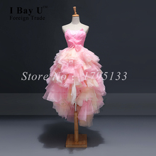 Vestido De Festa De Casamento Dreamy Pink Front High Back Long Beach Flower Girl Dresses Flower Girl Dresses With Long Train