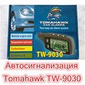 Sistema de alarma del coche de dos vías TOMAHAWK TW9030 LCD de arranque remoto del motor versión Rusa LCD de $ number vías de alarma de coche de Fábrica Al Por Mayor
