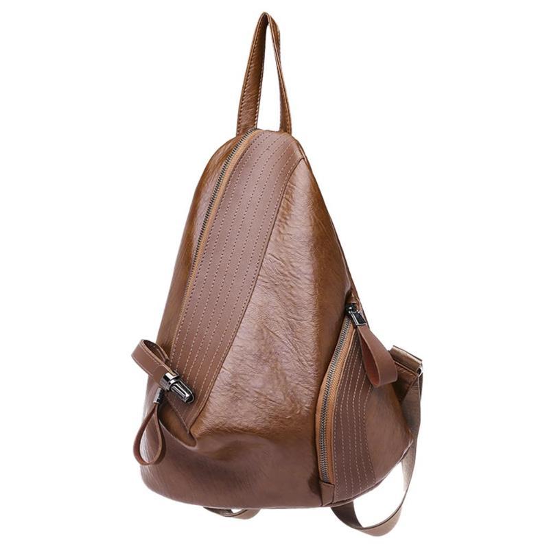 Creative Leisure Women Backpacks Women's Pu Leather Backpacks Female School Shoulder Bags For Teenage Girls Travel Back Pack