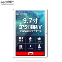 "Cheapest 3G Quad Core Tablet 9.6 ""WCDMA 1280*800 pxl IPS Dual SIM 16 GB ROM Bluetooth GPS WIFI Phone Call Android 4.4 Tablet PC"