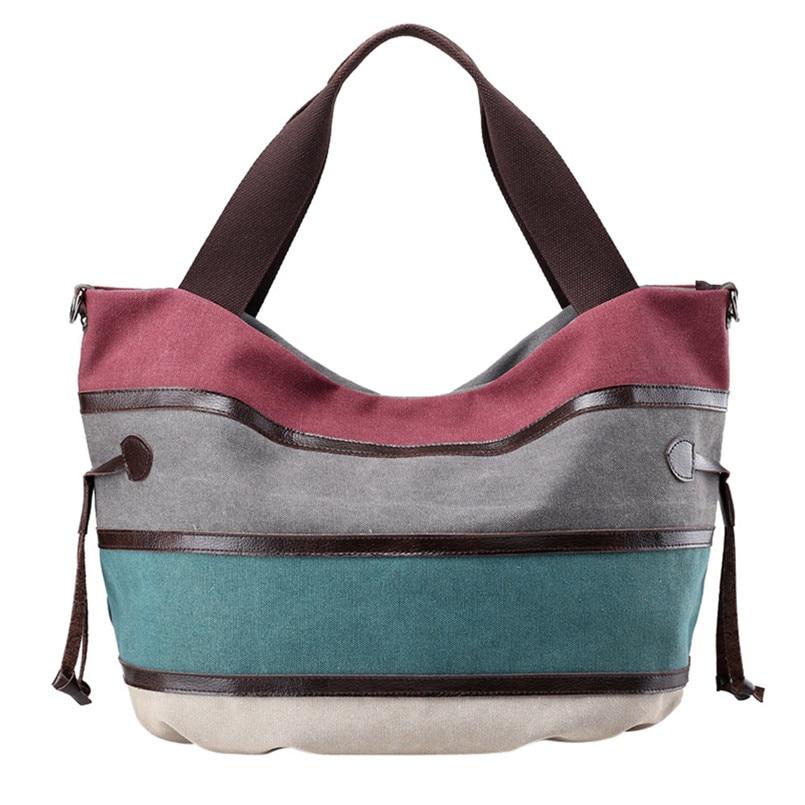 2018 New Brand Women Fashion Split Joint Crossbody Bag Ladies Canvas Shoulder Bag Female Zipper Handbag Totes bolsas feminina S