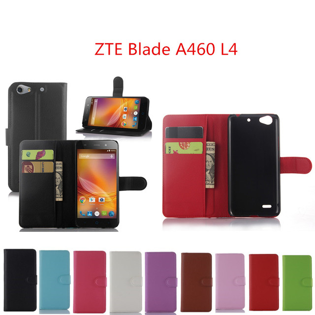 sneakers for cheap f0255 5820f US $3.46 11% OFF|For ZTE Blade A460 L4 5.0 inch Case Wallet Style PU  Leather Case For ZTE Blade L4 / ZTE A460 with Stand Function and Card  Holder-in ...